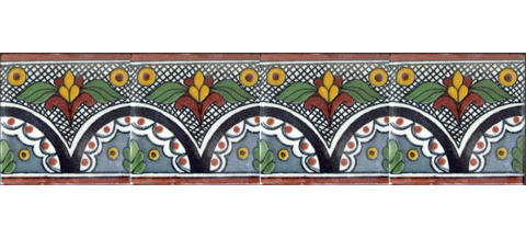 / Border Tile 4x4 inch (90 pieces) - Style CN-01
