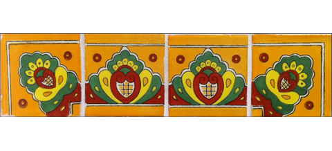 / Border Tile 4x4 inch (90 pieces) - Style CN-02