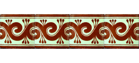 / Border Tile 4x4 inch (90 pieces) - Style CN-13