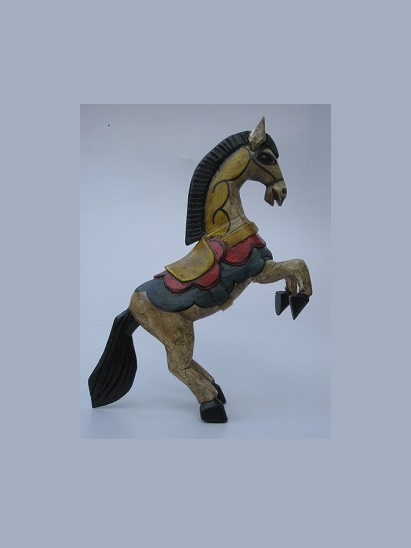 CARVED HORSES / Carved horse 14 inch tall handpainted